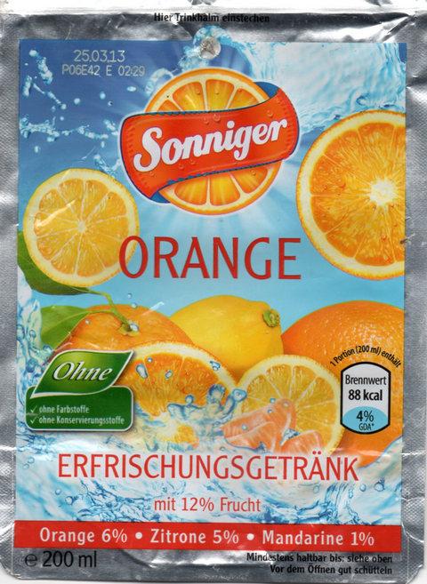aldi orange hellblau