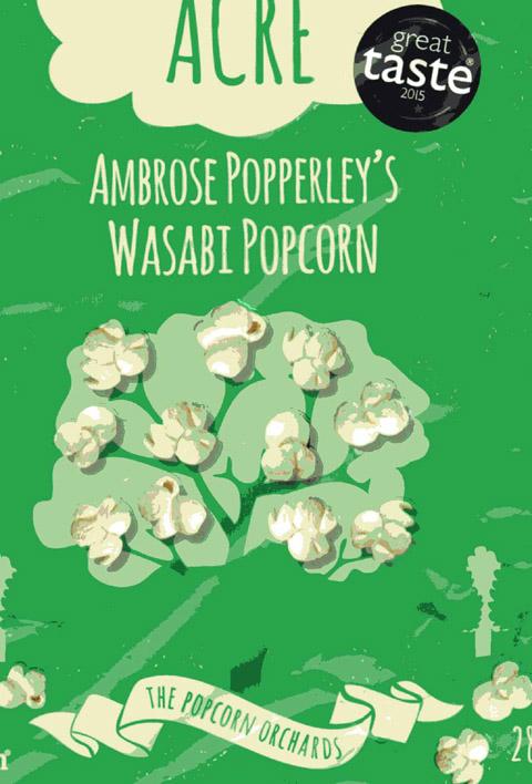 Poppcorn mit Wasabi Geschmack